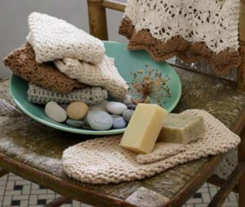 Free Crochet Pattern Bath Collection Almond Double Crochet Bath Mitt